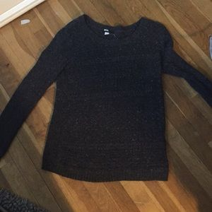 Charcoal gray knit sweater